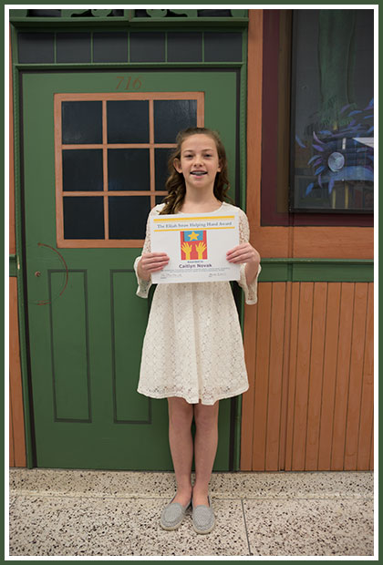 Caitlyn Novak: Recipient of the 18th Elijah Straw Helping Hand Award