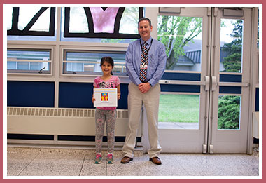 Zehra with Principal Michael Rowe
